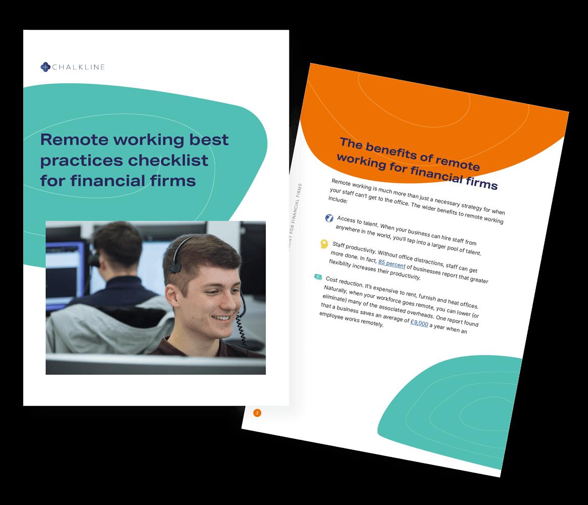 Chalkline remote working best practices checklist for financial services firms