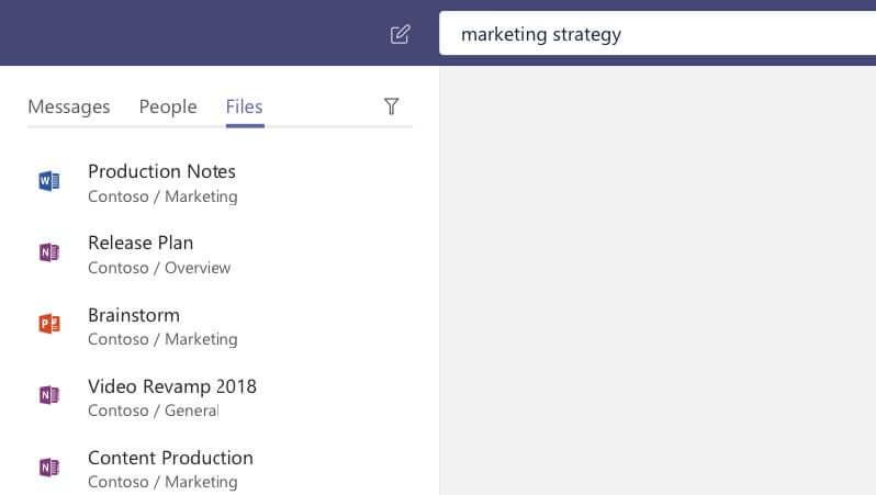 Files tab in Microsoft Teams App