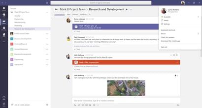 Detailed tab in Microsoft Teams App