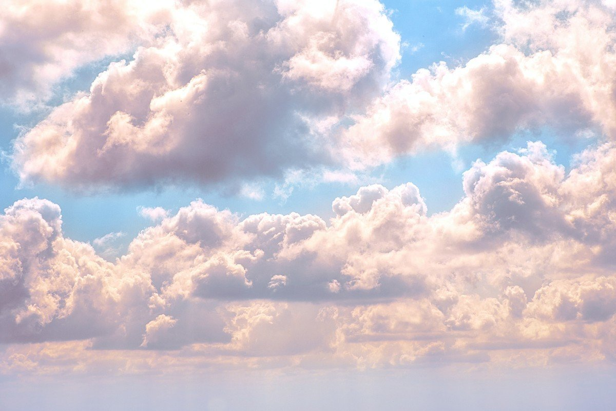 Cloud formations in the sky to illustrate cloud computing technology