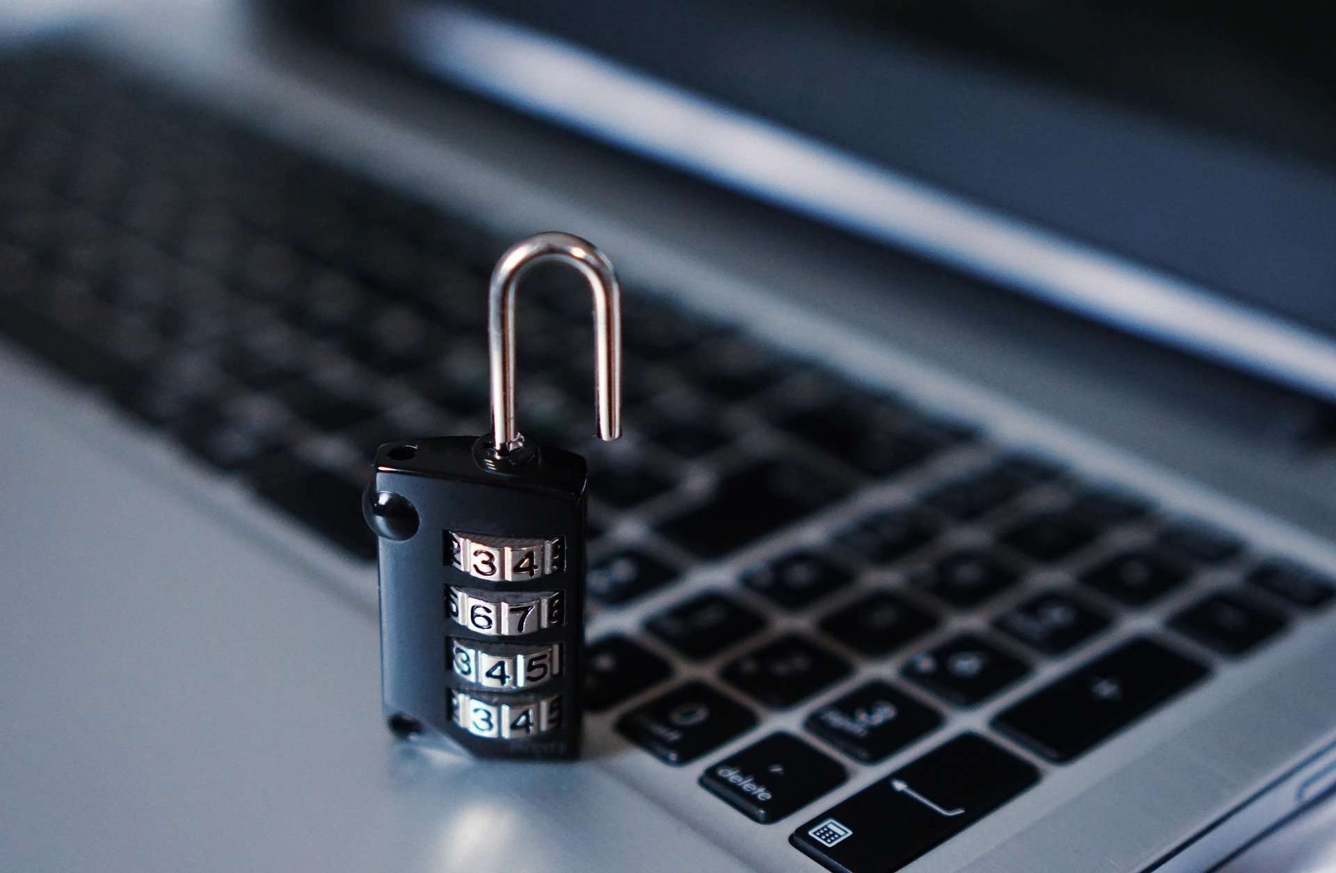 lock on a laptop (security testing and penetration testing blog)