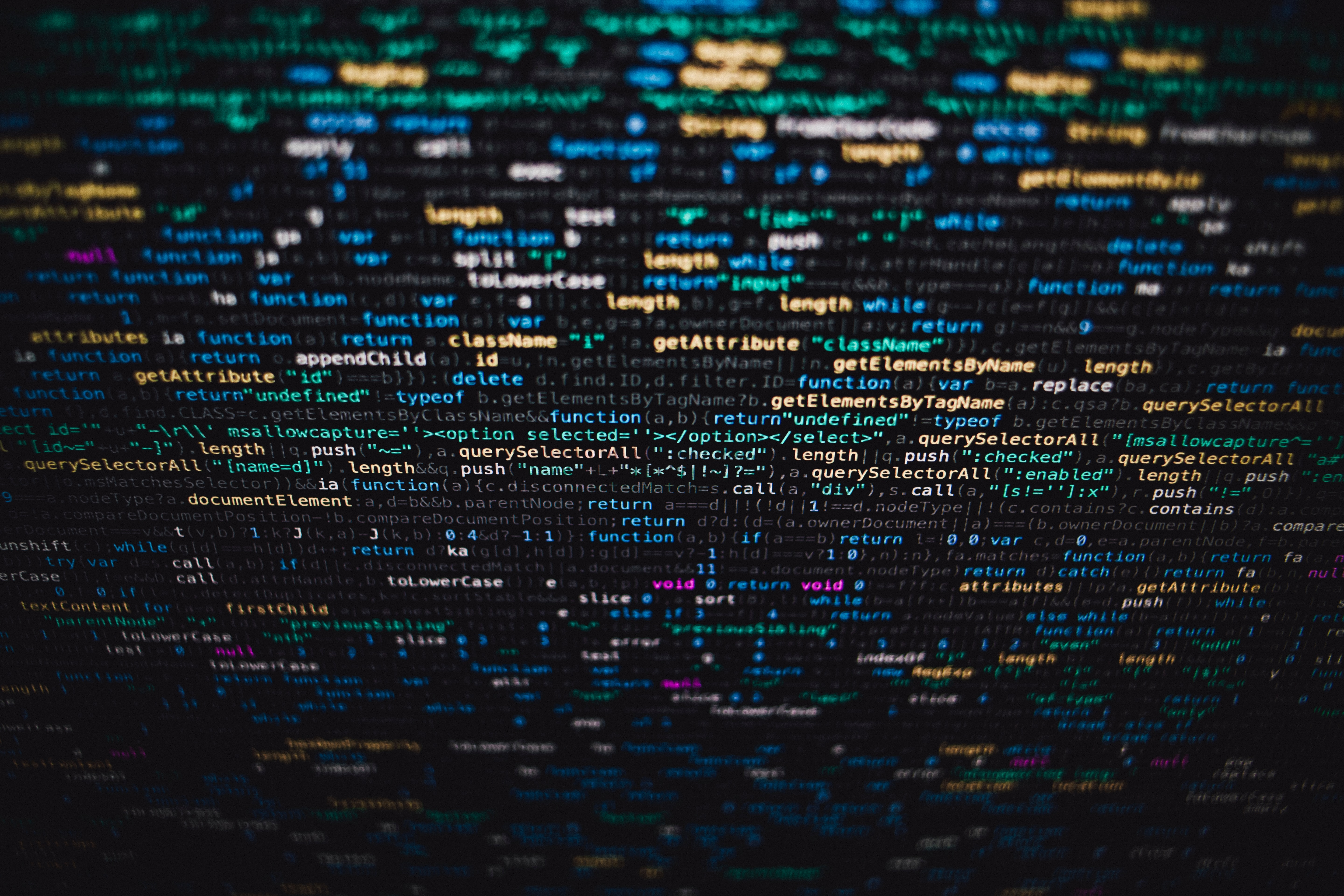 Computer data on a screen
